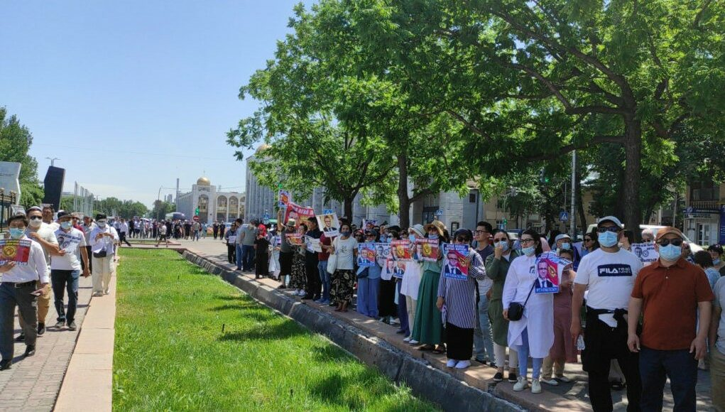 Kyrgyz hold vigil in hope of finding missing educator